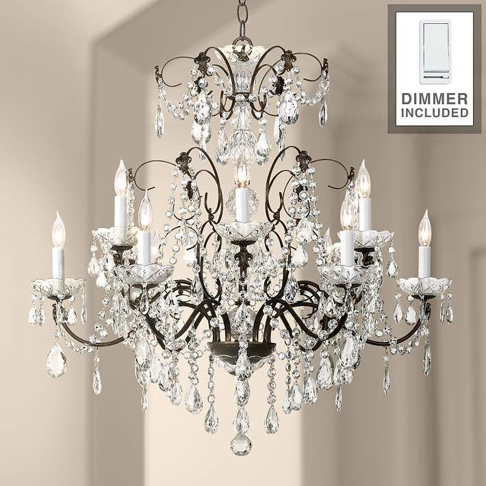 Madison 12 Light Legacy Crystal Chandelier with Dimmer