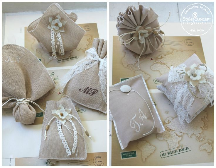 #Wedding #favors in the shades of #sand and soft beige. Still popular in the #2015 collection.