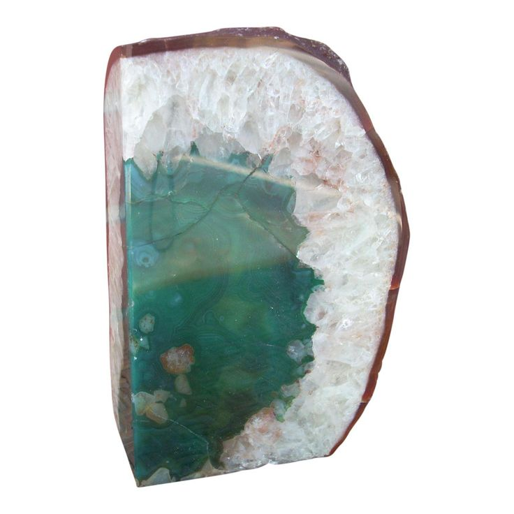 Quartz & Agate Geode Bookend - Image 1 of 3
