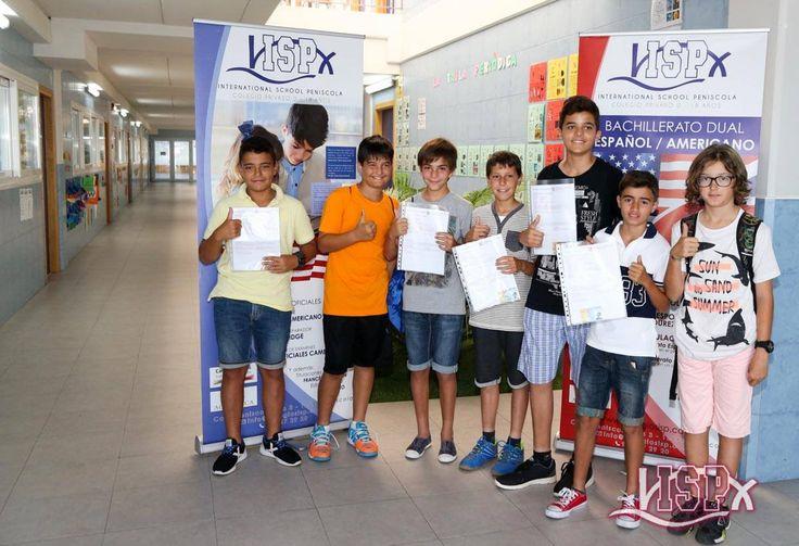 #alumnosISP, los primeros en salir ayer de los #exámenesKET (A2) y #exámenesPET (B1) con una sonrisa de oreja a oreja ¡Excelentes resultados! .#InglésISP #plurilingüismoISP