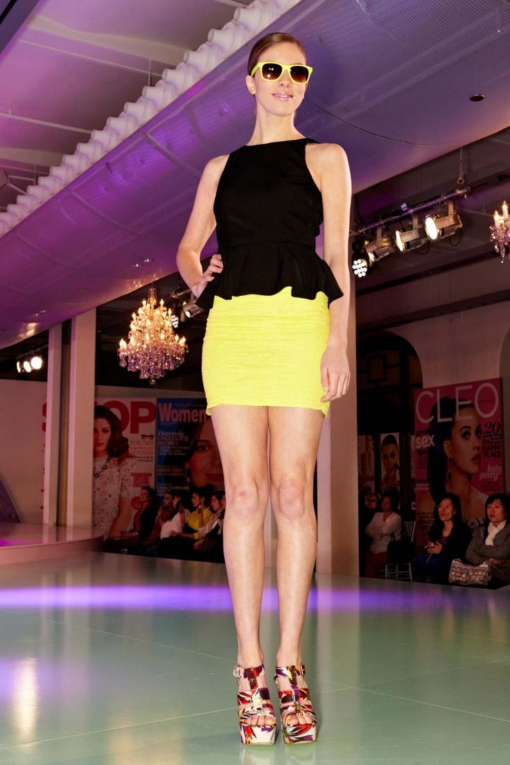 Neon Bright yellow from Bardot @ 30 days of Fashion & Beauty