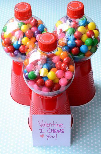 Traktatie kauwgomballen automaatjes