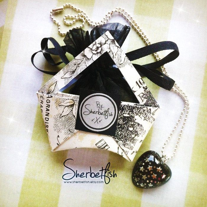 Starry night necklace in pretty gift packaging ⭐️