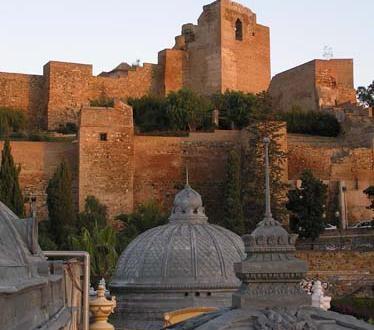 Detalle de la Alcazaba de Malaga