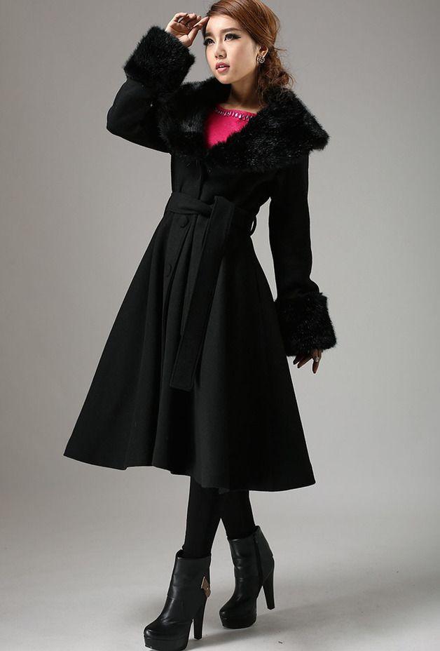 Lange Mäntel - elegant Wolle Langes Mantel (729) - ein Designerstück von yanhuayue bei DaWanda