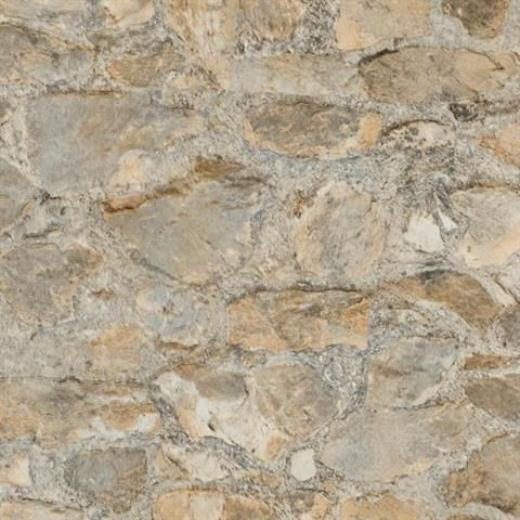 Faux stone wall faux stone textured wallpaper and for Textured wallpaper accent wall