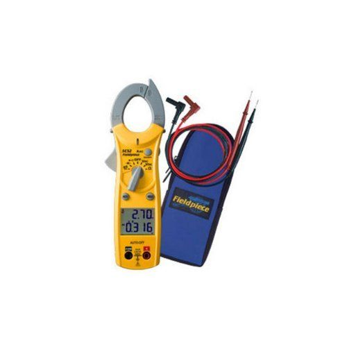 Fieldpiece SC52 Dual Display Mini Clamp Meter for HVAC/R by Fieldpiece. Save 16 Off!. $82.30. Read amps and volts at the same time with the Dual-Display Mini Clamp Meter for HVAC/R, model SC52. Measure any other range on the meter simultaneously with an amp measurement. The SC52 is compact measuring only about 8-Inches, easy to use and includes many of the ranges you use everyday during HVAC/R field service. It includes the ranges for flame diode rectification and a diode test for checking…