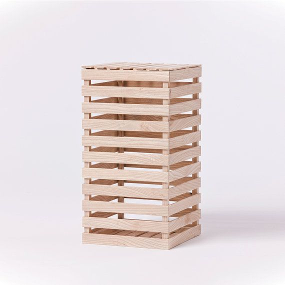 Tall Crate: Ash Wood Design Contemporary by SuchAndSuchSite
