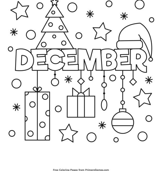 Winter Coloring Pages Ebook December Colorful Coloring December Ebook Pages Winter Coloring Pages Winter Christmas Coloring Pages Coloring For Kids