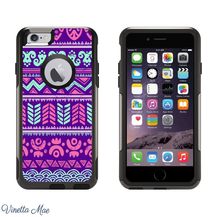 iPhone Otterbox Case for iPhone 5, 5s, 6, 6 Plus Purple Mint Beach Aztec Tribal Pattern Girls Cell Phone Case Otter Box Hard Cover 1118 by VinettaMae on Etsy https://www.etsy.com/listing/208851829/iphone-otterbox-case-for-iphone-5-5s-6-6