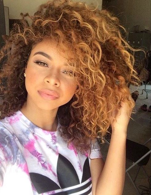 light brown curly hair goals