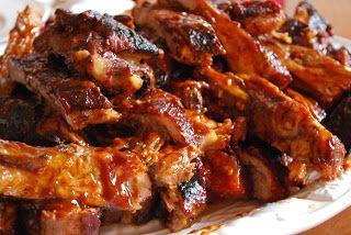 Recette de ribs (côtes) de porc, épicés, marinés au rhum et sauce bbq (Etats-Unis, Louisiane)