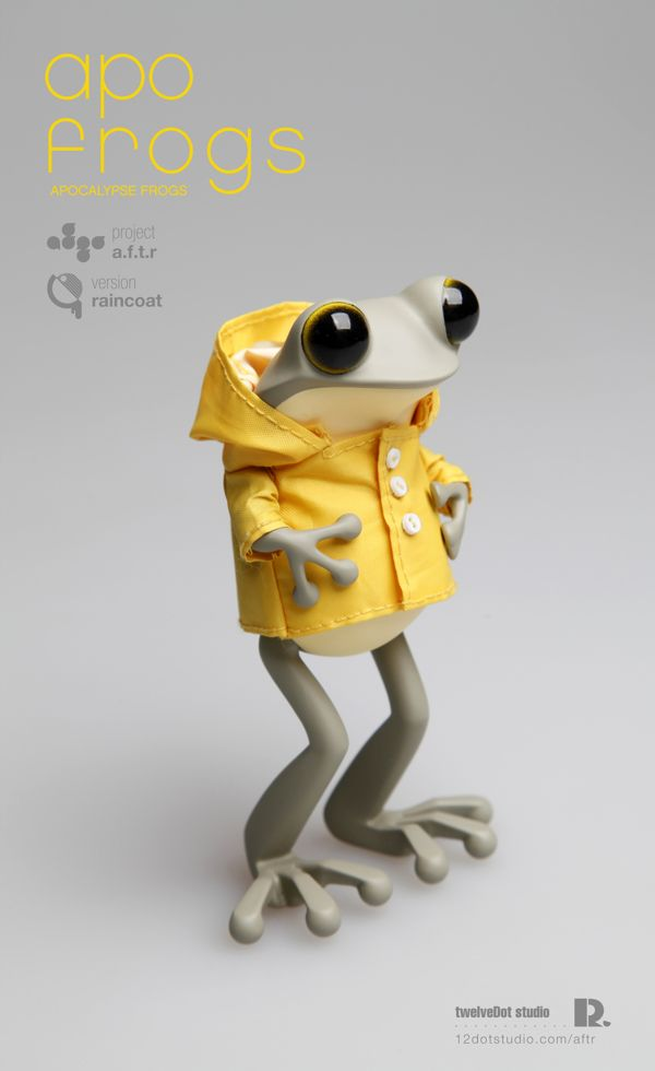 apo frogs : version raincoat by Hyunseung Rim, via Behance #cute