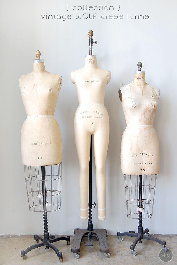 vintage dress forms