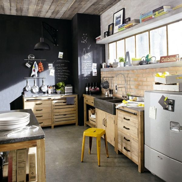 Maisons Du Monde Kitchen Chalkboard Paint Accent Wall