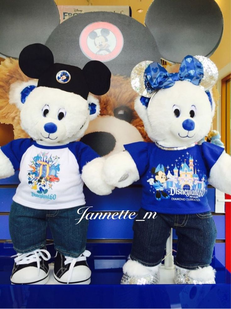 Build A Bear Workshop Disneyland Diamond 60th Anniversary outfit girl boy *RARE*
