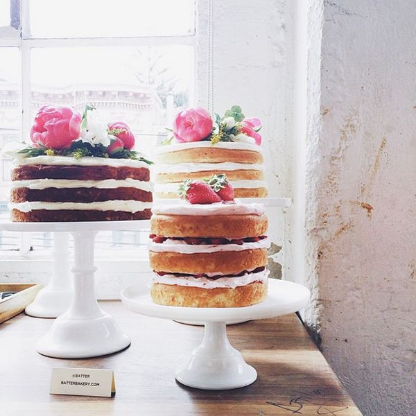 The Most Instagrammed Bakeries In S.F. #refinery29  http://www.refinery29.com/best-san-francisco-bakeries#slide-9  Batter BakeryBatter Bakery's naked cakes might just be the most photogenic dessert we've ever seen. And, in case you're wondering, yes, they are as good as they look.Batter Bakery, 555 California Street (between Spring and Kearny streets); 415-706-8076.