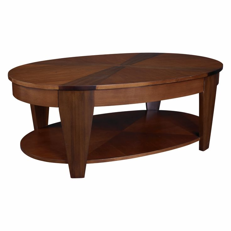 Attractive Oval Coffee Table Wood