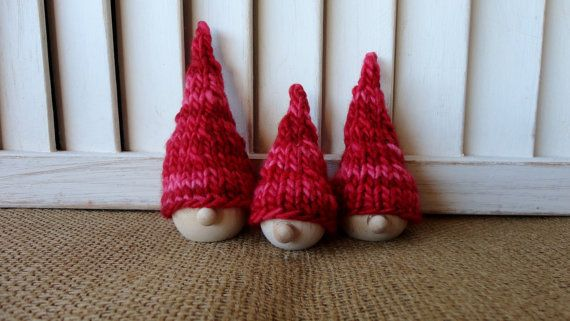 Christmas Elves Jule Nisser Christmas Elf by KnitsDuNord on Etsy, $18.00
