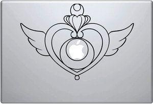 sailor moon heart locket laptop decal, MacBook, Apple, cool sticker on Etsy, $7.50