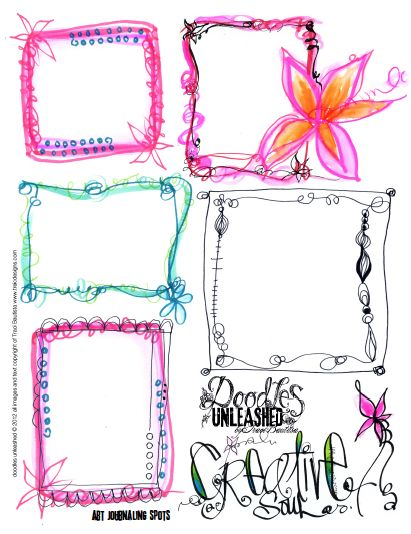 doodles unleashed art journaling spots FREE printable by Traci Bautista