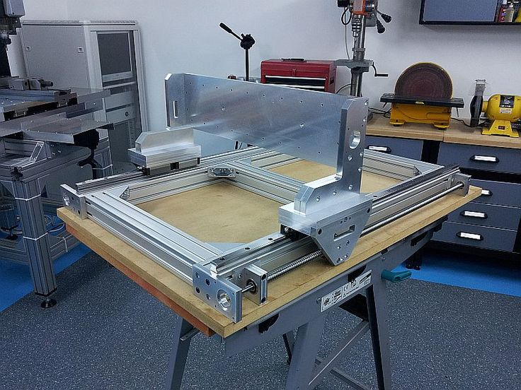 Build thread cnc router aluminum frame pics only for Home built router
