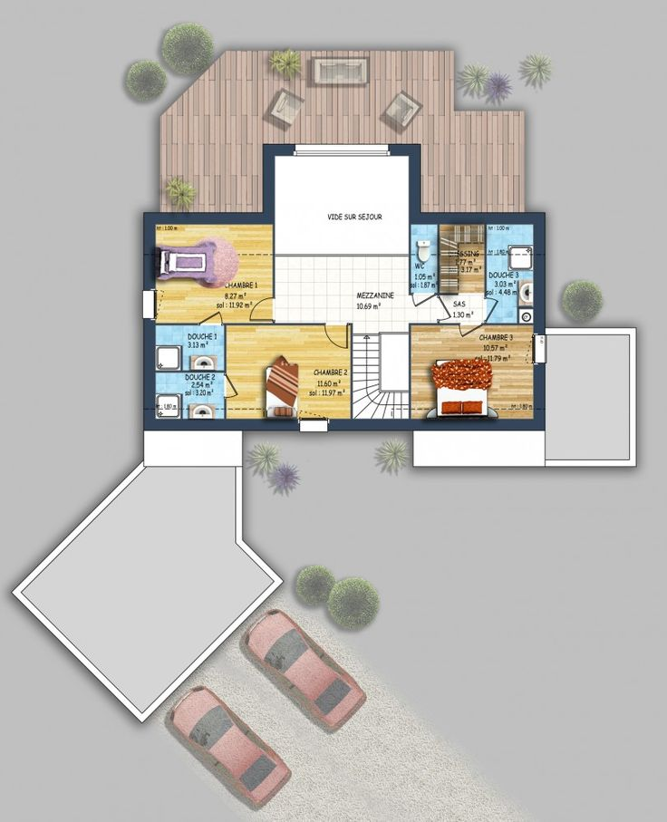 20 best Inspiration maison images on Pinterest Contemporary homes - plan maison plain pied 200m2