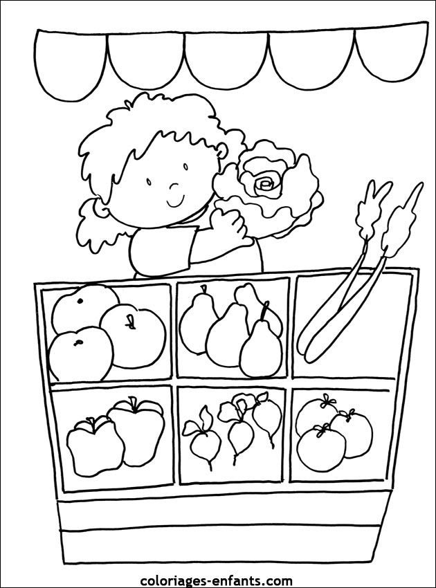 44 best images about groente kleurplaten on pinterest coloring fruits and vegetables and nature - Fruits coloriage ...