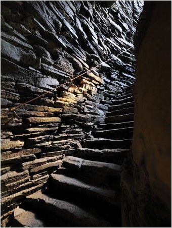 Detail of a Stone Staircase Inside Mousa Broch