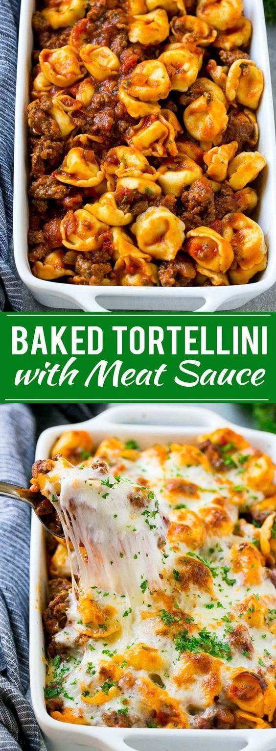 Baked Tortellini with Meat Sauce