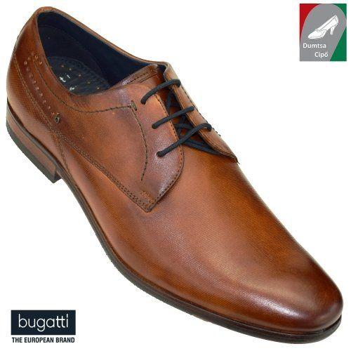 Bugatti férfi bőr cipő 312-29401-1100-6300 konyak