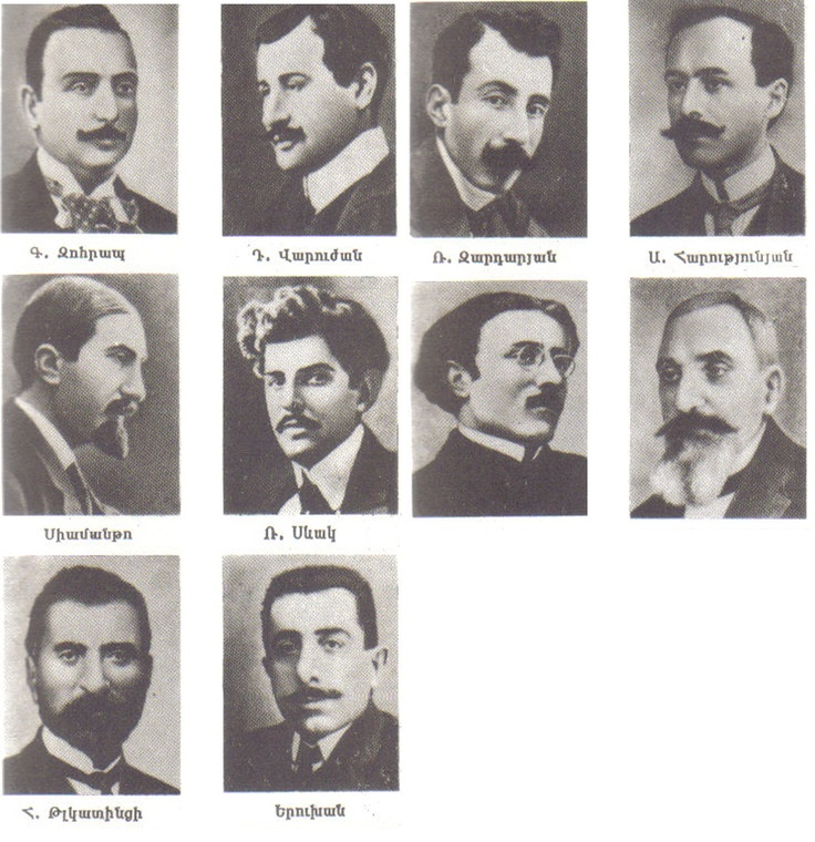 Armenian intellectuals who were arrested and later executed en masse by Ottoman authorities on the night of 24 April 1915.