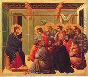 Christ Taking Leave of the Apostles 1308-11  by Duccio Di Buoninsegna