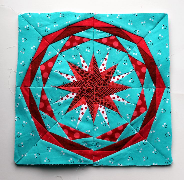 finished paper piecing star