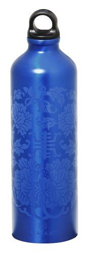 Gaiam 750ml Aluminum Water Bottle Lapis Medallion Poly Loop Cap *** See this great product.Note:It is affiliate link to Amazon.