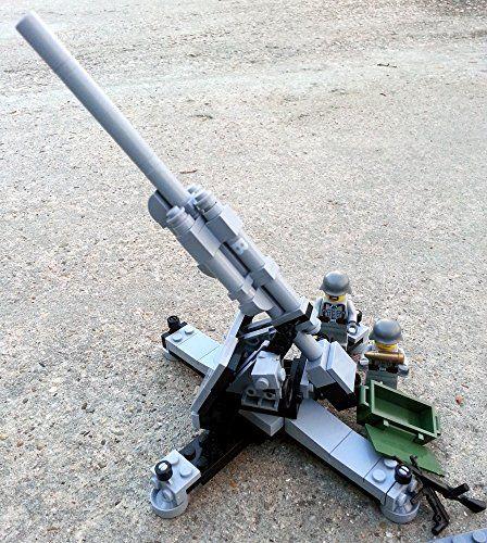 """Modbrix 2343 - Bausteine Set, 88 mm Flugabwehrkanone """"Flak 37"""" mit original Lego© Wehrmacht Soldaten Brigamo http://www.amazon.de/dp/B00RZUVWV4/ref=cm_sw_r_pi_dp_S8bjvb0PWVGEE"""