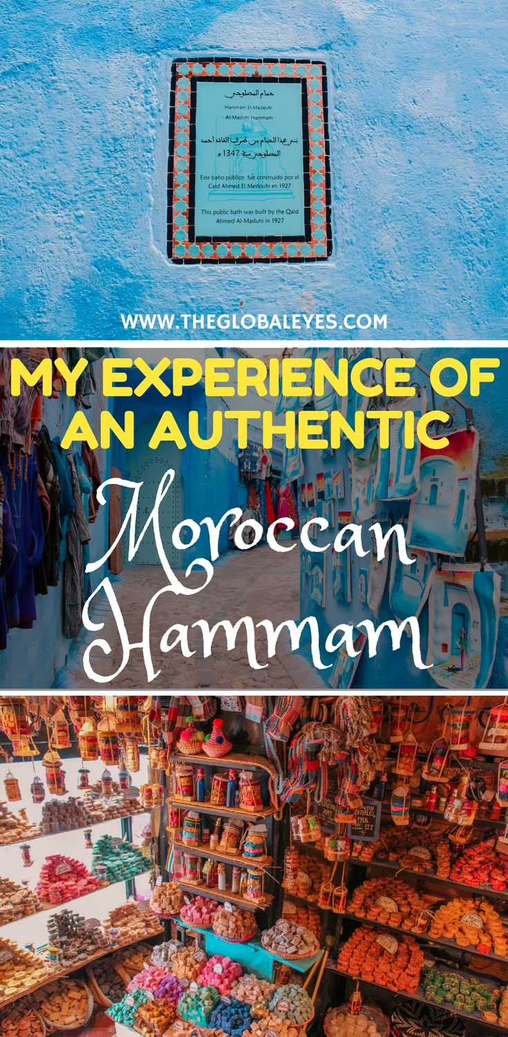 My experience at a Moroccan hammam is something I will remember forever :D It's one of those unique experiences you gotta try at least once in your live but please don't make the mistake we made. Read to find out what it was :D Chefchaouen Morocco I Morocco Travel I Chefchaouen Morocco Travel I Moroccan Hammam I Adventure Travel