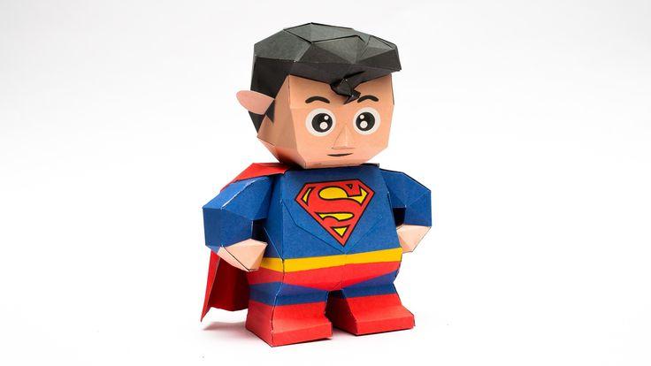 วิธีทำโมเดลกระดาษซุปเปอร์แมน (Chibi Superman Papercraft Model)