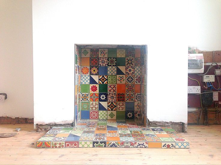 Tile fireplace from customer                                                                                                                                                                                 More
