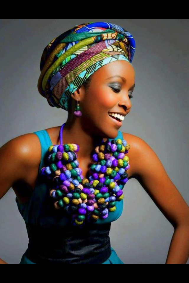 African style: rainbow colors
