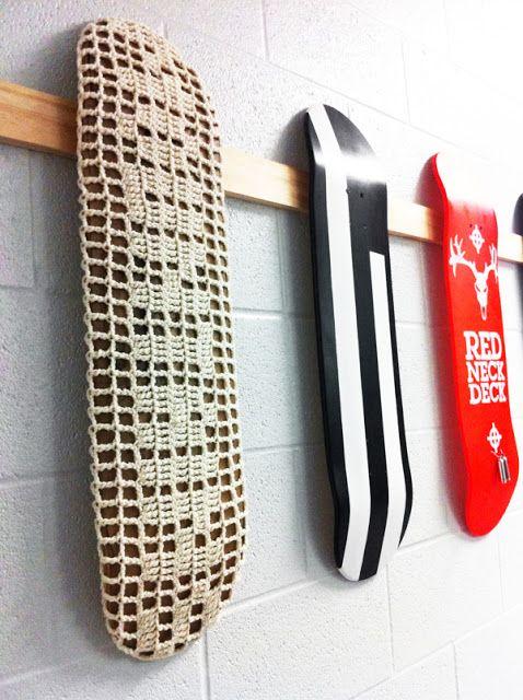Las Teje y Maneje: CROCHET & SKATE ART