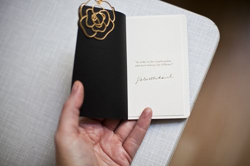 glamcanyon: a gift to you - CHANEL's limited edition notebook