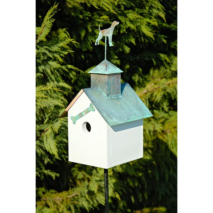 Heartwood Sleepy Hollow Big Dog Bird House - White | from hayneedle.com