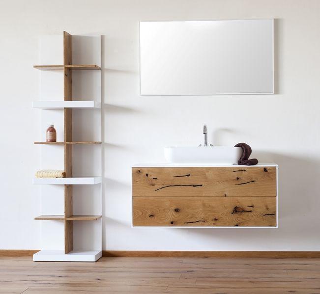 |Collezione Frame|Rovere rusticone naturale stuccato nero| Bathroom design wood