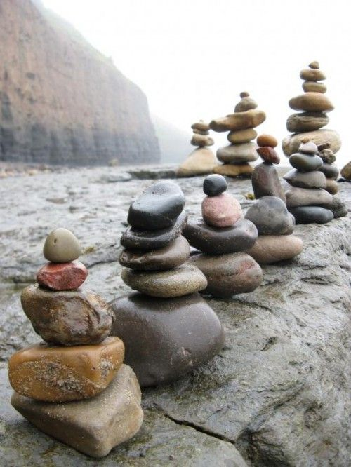 Seeing cairns always reminds me to stop, breathe, and live in the moment.