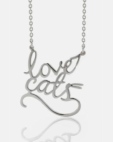 Meadowlark - Love Cats Necklace