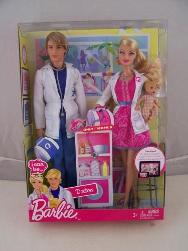 barbie at kohls | Barbie I Can Be A Doctor Working Together Doll Set Mattel Store ...