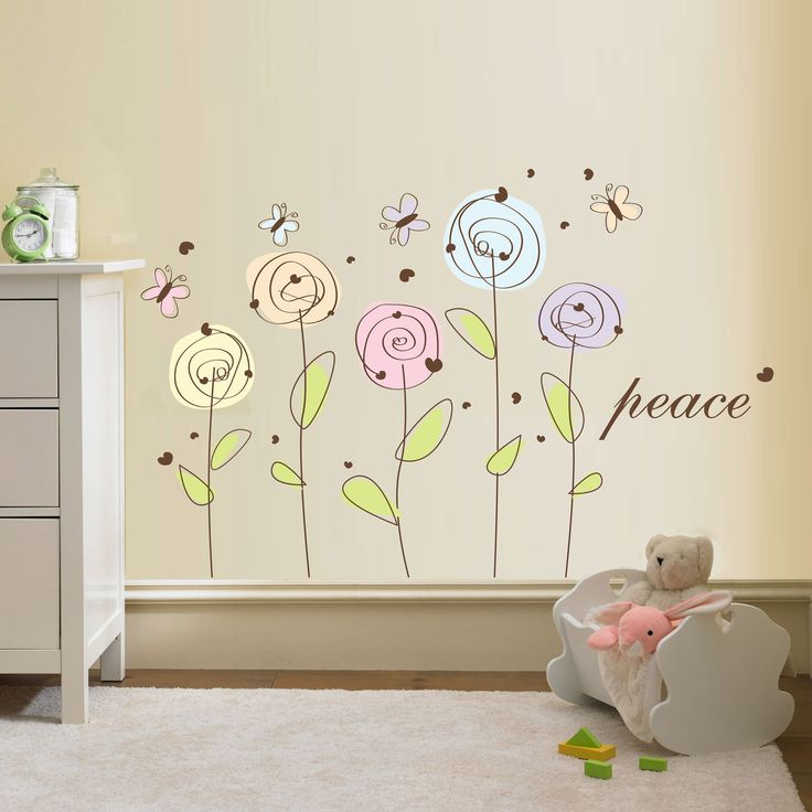 Best Floral Wall Decals Images On Pinterest Floral Wall - Custom vinyl wall decals flowers