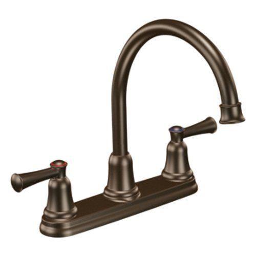 moen cfg 41611owb capstone two handle high arc kitchen faucet old world bronze