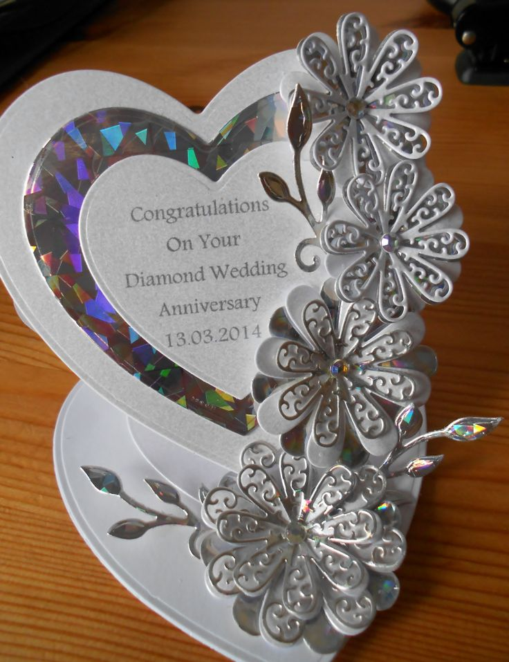 Diamond Wedding Anniversary Card 158 best Special